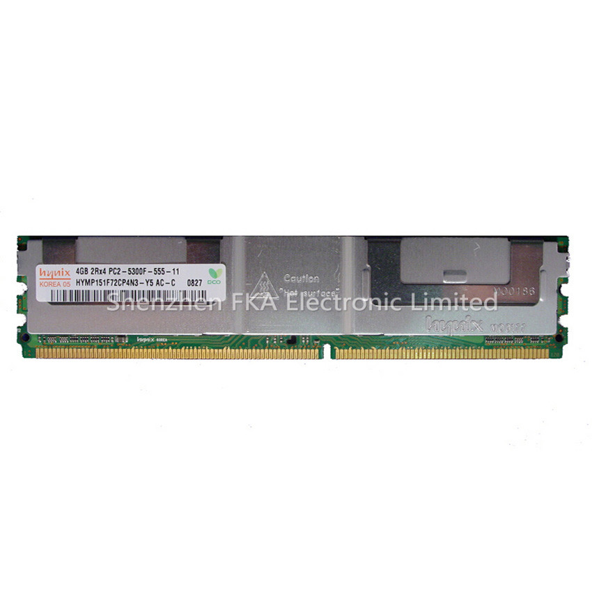 4GB 2RX4 PC2-5300F 667MHz DDR2 ECC Memory RAM DIMM DR397