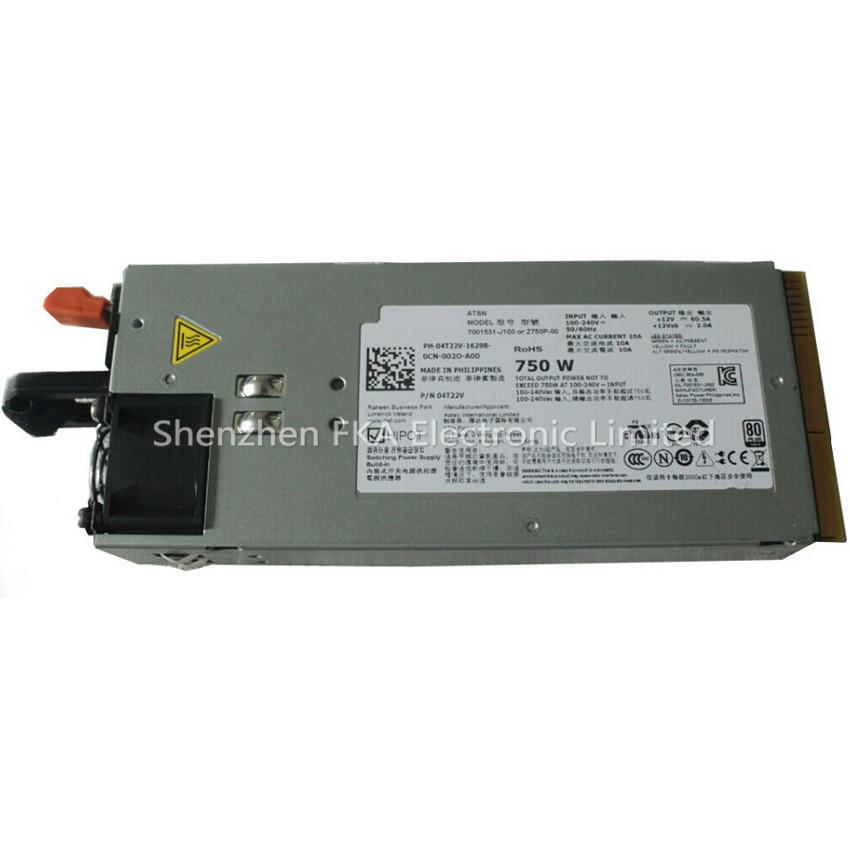 DELL PowerEdge R510 R810 R910 Server Power Supply 4T22V Z750P-00 750W Redundant PSU