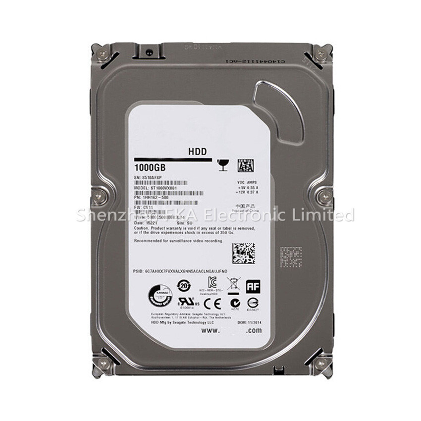 Original New 3.5'' 1TB HDD 5900rpm SATA 64MB 6Gb/s For Seagate Hard Disk Drive ST1000VX001