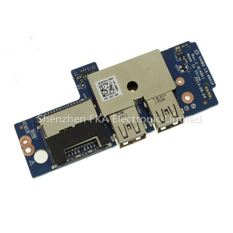 Dell Precision M3800 / XPS 15 (9530) USB / SD Card Reader IO Circuit Board 07DF4 CN-007DF4